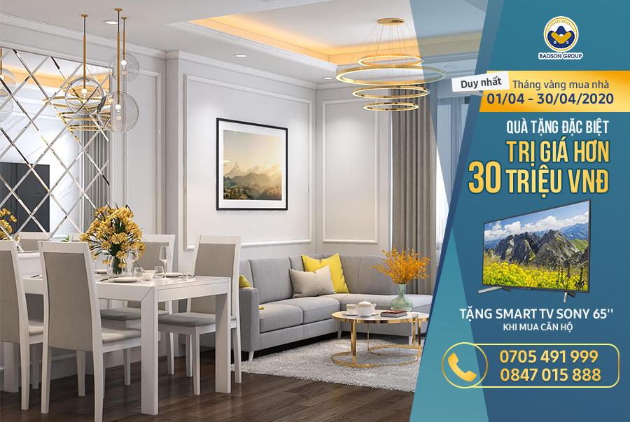 Khuyến mãi tháng vàng: Mua nhà tặng SMART TV liền tay trị giá hơn 30 TRIỆU, duy nhất trong tháng 4